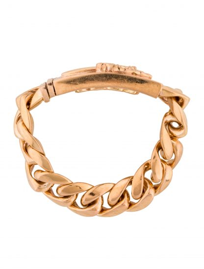 CHROME HEARTS Men's 22K CURB LINK BRACELET
