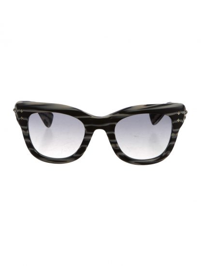 CHROME HEARTS Women's Black and Creme SUNGLASSES